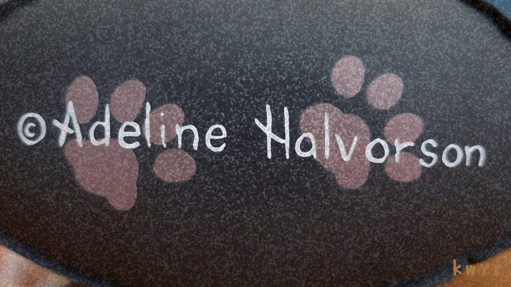 猫のドアストッパー(Adeline Halvorson )底面