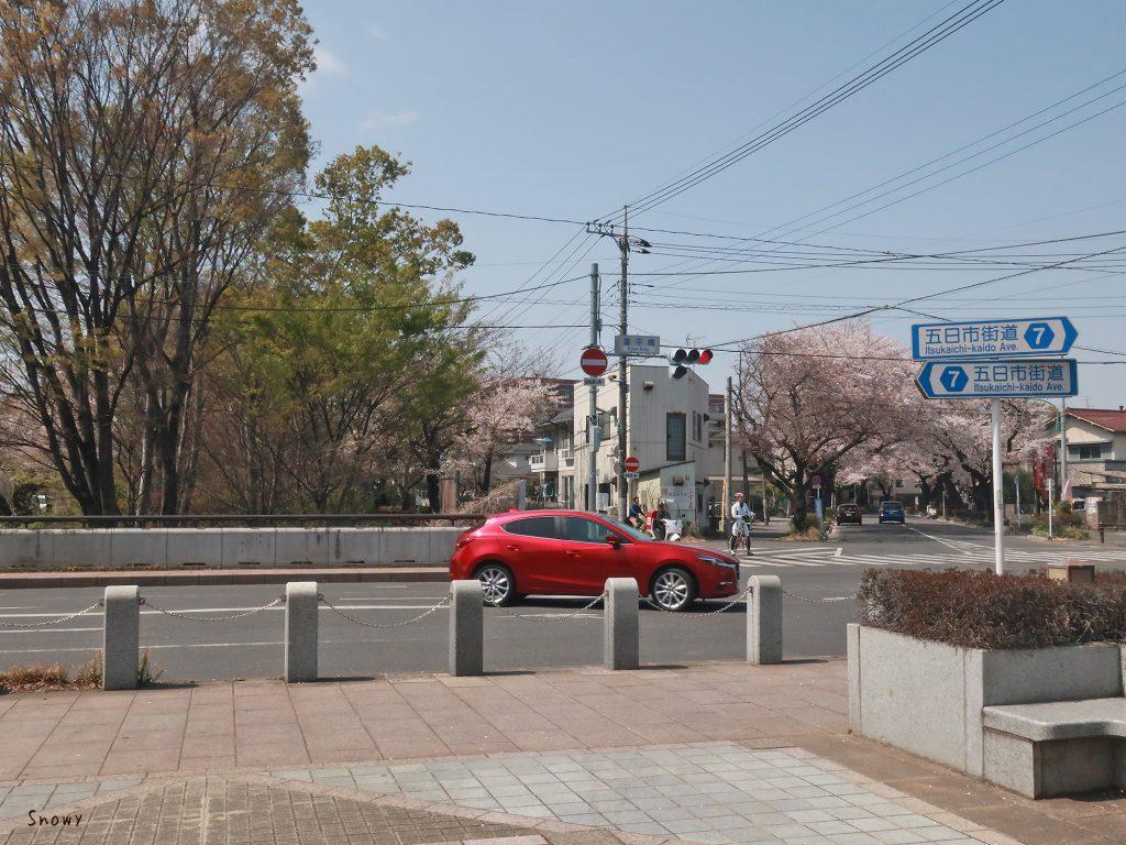 ポケットパークから見た喜平橋交差点