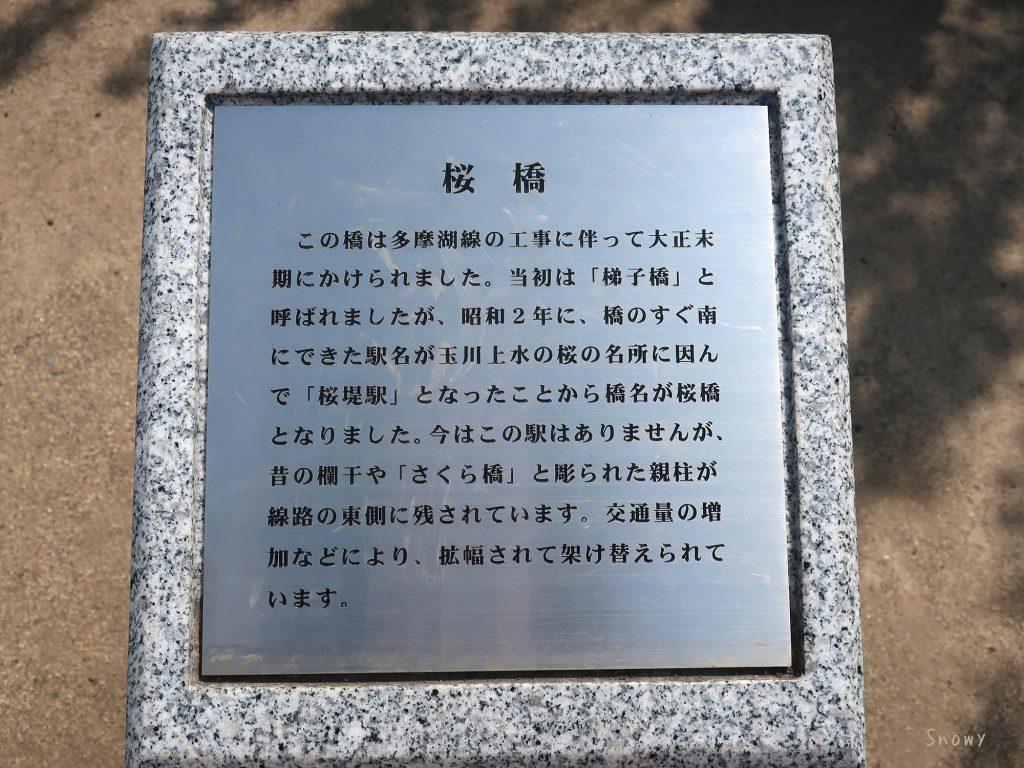 小平桜橋の説明板
