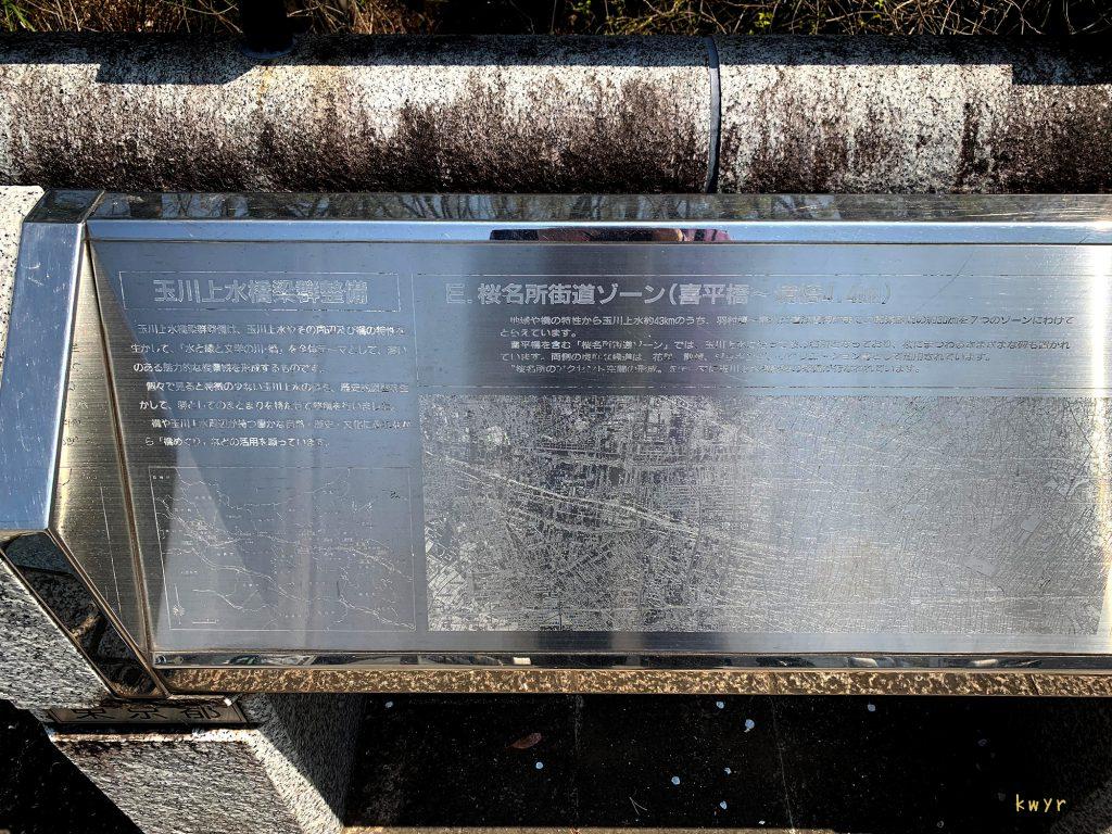 玉川上水橋梁群整備の説明