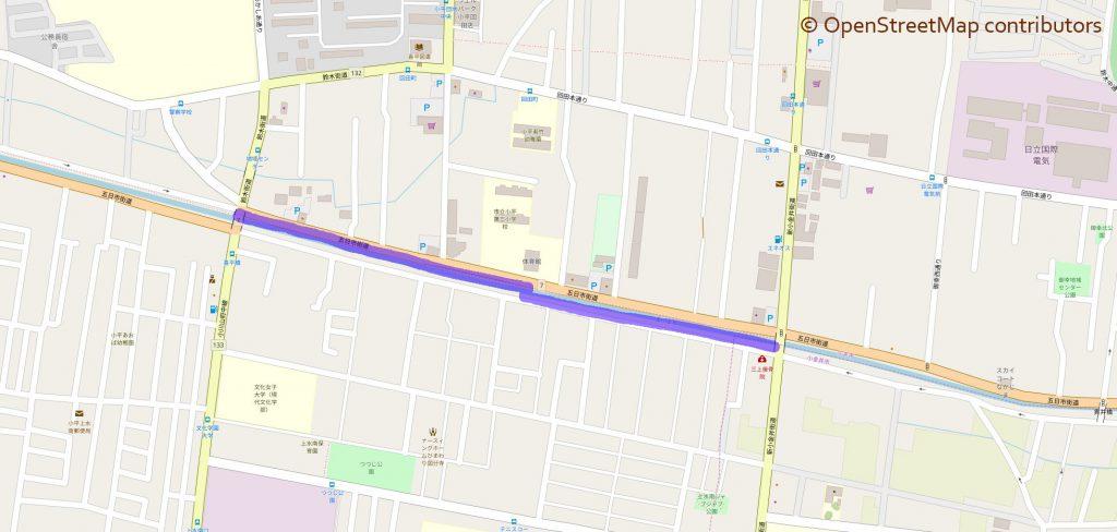 茜屋橋から喜平橋の地図