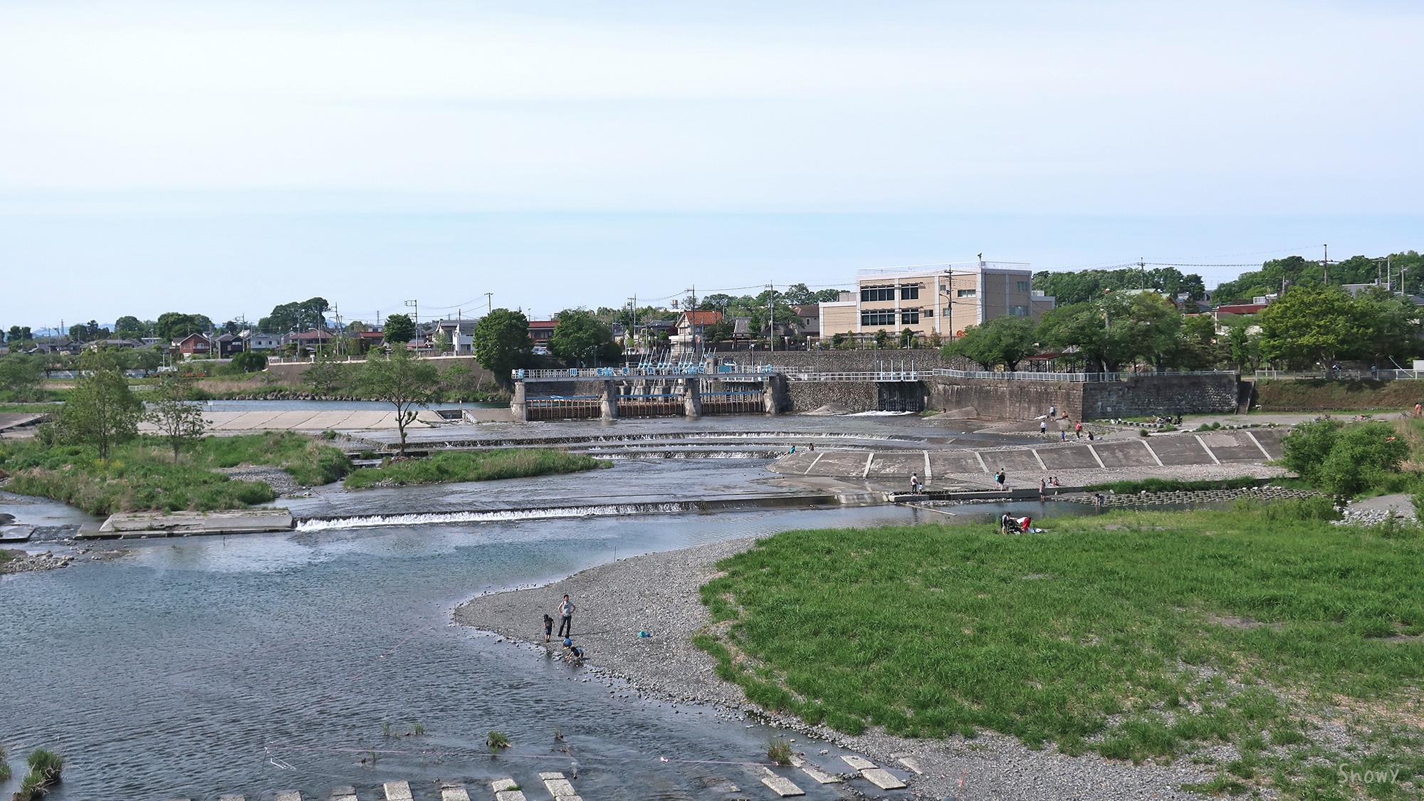 羽村堰下橋から見た羽村堰